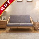 Sofa en bois de salon de salle de séjour de tissu moderne de chêne