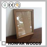 3mmの実質ガラスが付いている無作法なブラウン木映像の写真フレーム