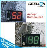 Sinal personalizado do limite de velocidade do radar solar