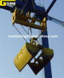 A eletro garra hidráulica equipa-se com o guindaste de Quay