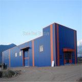 Edificio moderno de la fábrica del taller de la estructura de acero ligero con el mejor diseño