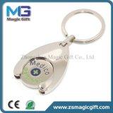 Kundenspezifische unbelegte runde Metalllaufkatze Keychain