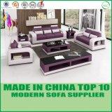 Modernes Möbel Leder-Liegesofa-Sofa-Set