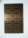 Plaque plaquée de cuivre de feuille d'acier inoxydable de mur intérieur avec le matériau de construction