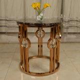 Table basse chaude de marbre de tournée avec le bâti en métal
