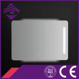 Jnh165タッチ画面のLEDによってバックライトを当てられる溝を彫られた端の経済的な浴室ミラー
