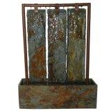 Реальная медь и естественный каменный фонтан воды таблицы
