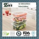 Cadre de déjeuner en plastique remplaçable de conteneur de nourriture de compartiment simple clair (SZ-L-650ML)
