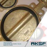 Tipo válvula da bolacha de borboleta assentada resiliente do ferro de molde