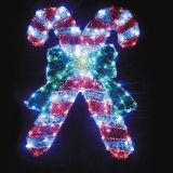 屋外の照明のための2017の普及したカスタマイズされたキャンディ・ケーンのクリスマス装飾的なライト