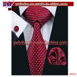 メンズタイ絹の赤い準正装セットのネクタイのタイのハンカチのカフスボタンのタイセット(B8052)
