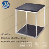 HK moderno simple labra el escritorio de madera del trabajo del acero inoxidable