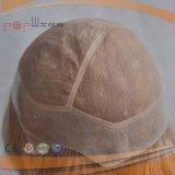 Tipo completo biondo lungo Charming parrucche seriche della parrucca di Handtied del bordo dell'unità di elaborazione delle donne di Sytle dei capelli diritti