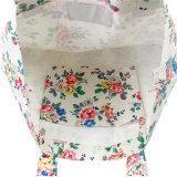순수한 화포 꽃 인쇄 손잡이 책가방 (23191)