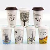 16 oz caliente del logotipo de consumición de papel impreso Copas
