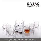 7PCSガラスアイスペールは夏のウィスキーのためにセットした