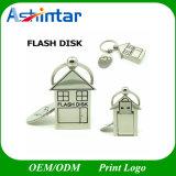 Keychain 사랑 집 USB 섬광 드라이브 금속 USB 플래시 디스크