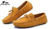 Ботинки Loafer привода замши коровы для людей и женщин