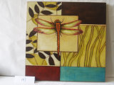 Stop Dragonfly Pattern Accueil Decorative Canvas Hanging Paintings