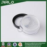 10g Claro cosmética Tamiz Crisol con la ventana de la muestra Cap Negro plástico en polvo suelto Tarro con Tamiz