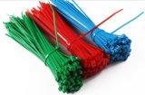 Le fil en nylon assorti auto-bloqueur de fermeture éclair de serres-câble Attacher-S'enveloppent dans noir et le blanc