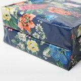 Sac à provisions floral pastoral de toile de PVC de configurations (2293-1)