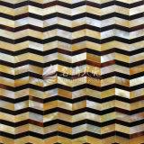 Gelbes Lippenmopp-Shell und Feder-Shell-rautenförmige Mosaik-Fliese