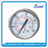 すべてのSs圧力正確に測中心の背部圧力計液体によって満たされる圧力計