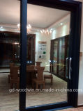 Portello scorrevole di alluminio caldo di vetro Tempered del doppio del venditore del Guangdong Woodwin (YS-100A)