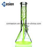 Tubo de agua de cristal del cubilete colorido para el tabaco (ZY004)