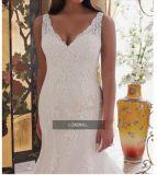 2017 a brodé les robes de mariage nuptiales de sirène d'Appliques de lacet CTP002