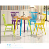 Круглый стол способа деревянный обедая для кафа (HW-8080-1T)