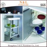島が付いている12年の保証のシンプルな設計の食器棚