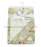 Micro cobertor gravado do bebê do vison