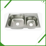 عادة محترف جيّدة نوعية [ستينلسّ ستيل] مغسل بالوعة
