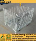 Almacén apilable de alambre de acero de malla Pallet Box / Caja de almacenamiento