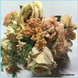 결혼식 홈 신부 훈장을%s 가짜 로즈가 실크 인공적인 꽃다발에 의하여 꽃이 핀다