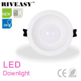 iluminación antideslumbrante LED Downlight de 3W LED LED