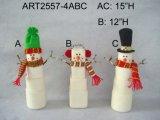 """9 """" Hx19 """" de Decoratie gift-2asst. van Kerstmis van Doorstopper van de Sneeuwman van de Kerstman van L"""