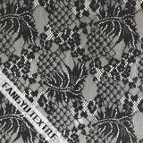Tessuto di nylon del merletto del cotone di disegno del reticolo del foglio