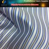 Forro hombres Traje de poliéster tejido textil de la tela cruzada tela de la raya (S42.46)