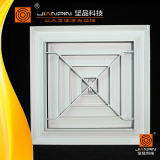 Verspreider van de Lucht van het Aluminium van de Verspreider van het Plafond van het Systeem HVAC de Vierkante met Demper