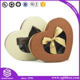 Caixa de papel de empacotamento dos doces da forma do coração do chocolate do presente