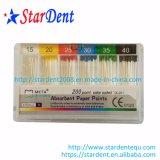 Pontos de papel absorventes codificados do APP do meta do atarraxamento 0.02 cor dental (200 pontos)