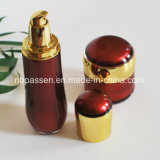 Vermelho ajustado do luxo novo/frasco acrílico loção do ouro para os cosméticos (PPC-NEW-106)