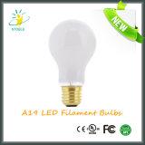 A19 4With6With8W LED Heizfaden-Birne mit Cer RoHS UL-Bescheinigungen