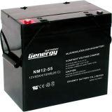 batterie d'acide de plomb scellée par 12V55ah pour outre du nécessaire solaire de réseau