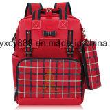 Saco dobro do Schoolbag da escola da trouxa do ombro das crianças respiráveis do estudante (CY9850)