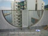 Het moderne Spoor van de Buffer van het Traliewerk van het Glas van het Balkon van het Roestvrij staal van het Ontwerp