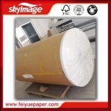 Nuevamente papel de transferencia de antienrollamiento de la sublimación del rodillo enorme de Fu-60GSM 36inch con la impresora de alta velocidad